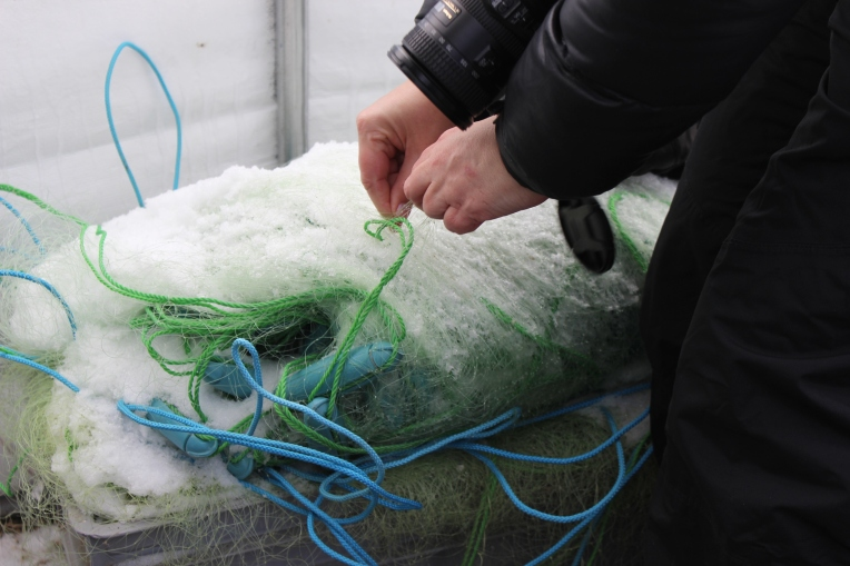 Ice fishing nets. (photo robin summerfield)